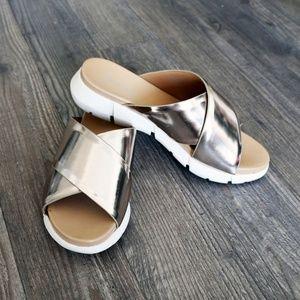 KIRSTEN 🎀NEW Calvin Klein Sandals Wedge Gold🎀